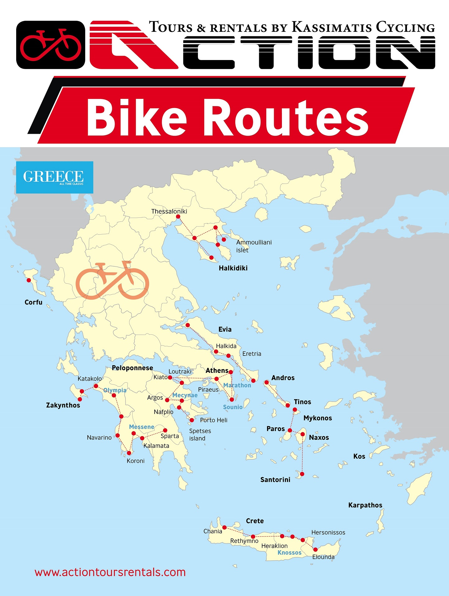 Cycling Tours Rentals in Greece