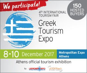 Meet us at Greek Tourism Expo, 8-10 Dec