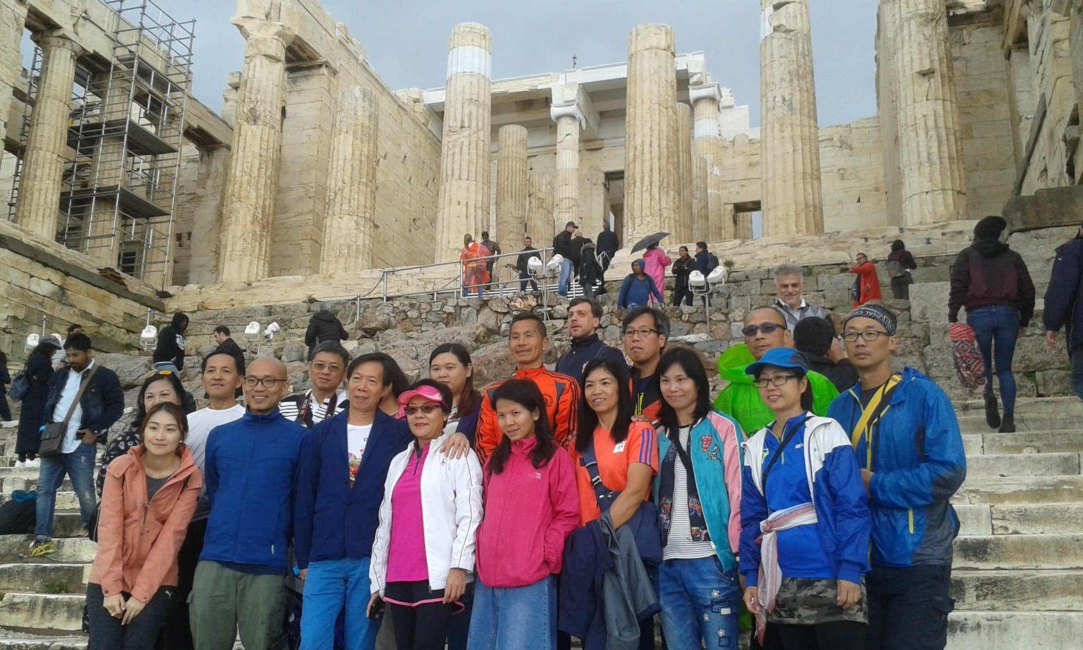 Hong Kong runners at the Athens Marathon 2017